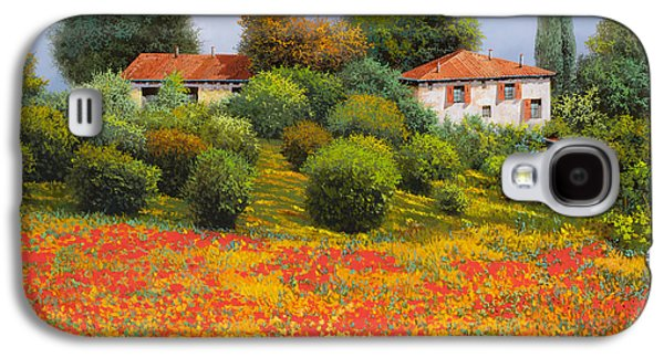 Field Paintings Galaxy S4 Cases - La Nuova Estate Galaxy S4 Case by Guido Borelli
