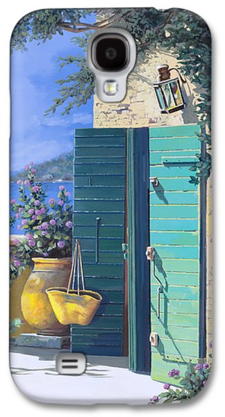 Holiday Paintings Galaxy S4 Cases - La Porta Verde Galaxy S4 Case by Guido Borelli