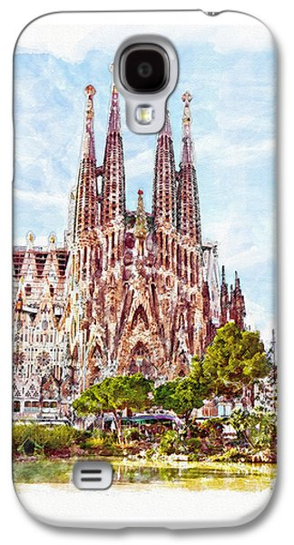 La Sagrada Familia Watercolor Galaxy S4 Case by Marian Voicu