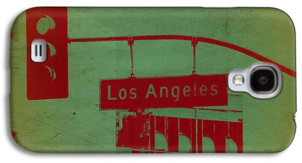 Golden Digital Galaxy S4 Cases - LA Street Ligh Galaxy S4 Case by Naxart Studio