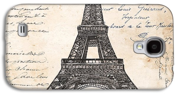 Postage Galaxy S4 Cases - La Tour Eiffel Galaxy S4 Case by Debbie DeWitt