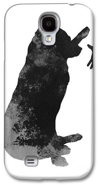 Illustration Jewelry Galaxy S4 Cases - Labrador puppy kids wall decor Galaxy S4 Case by Joanna Szmerdt