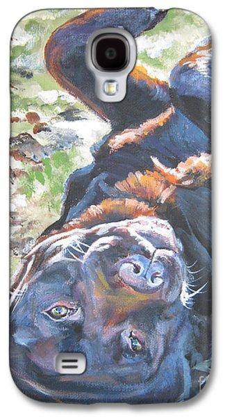 Labrador Retriever Chocolate Fun Galaxy S4 Case by Lee Ann Shepard