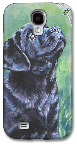 Labrador Retriever Pup And Dragonfly Galaxy S4 Case by Lee Ann Shepard
