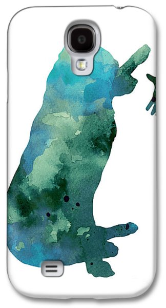 Illustration Jewelry Galaxy S4 Cases - Labrador silhouette artwork watercolor painting Galaxy S4 Case by Joanna Szmerdt