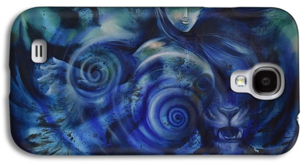 Girl Galaxy S4 Cases - Lady and the Tiger Galaxy S4 Case by Durshit Bhaskar