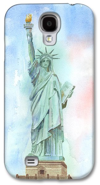 Liberty Paintings Galaxy S4 Cases - Lady Liberty Galaxy S4 Case by Arline Wagner