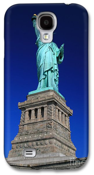4th July Galaxy S4 Cases - Lady Liberty Ellis Island NYC Galaxy S4 Case by Wayne Moran