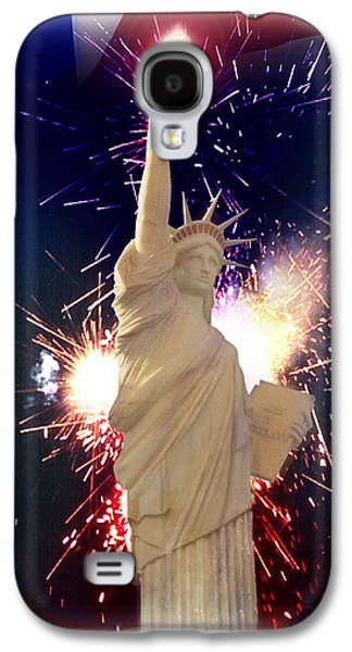 4th July Mixed Media Galaxy S4 Cases - Lady Liberty Galaxy S4 Case by Gravityx9  Designs