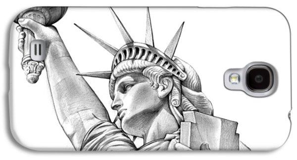 Lady Liberty Galaxy S4 Case by Greg Joens