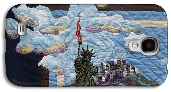 Skylines Tapestries - Textiles Galaxy S4 Cases - Lady Liberty Galaxy S4 Case by Shirley Goss