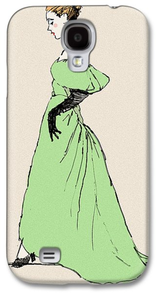 Opera Gloves Galaxy S4 Cases - Lady on a Wire Galaxy S4 Case by H James Hoff