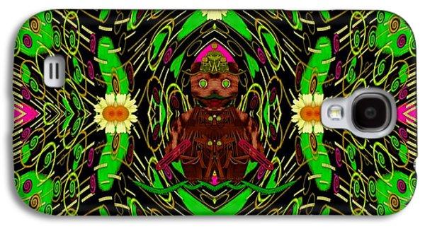 Juggling Galaxy S4 Cases - Lady Pandas Jungle Grafitti Galaxy S4 Case by Pepita Selles