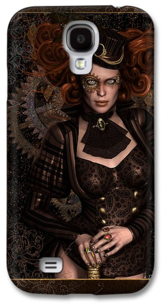 Industrial Digital Galaxy S4 Cases - Lady Steampunk Galaxy S4 Case by Shanina Conway