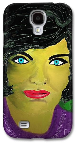 First Lady Digital Galaxy S4 Cases - Lady  with blue eyes Galaxy S4 Case by Mira Dimitrijevic