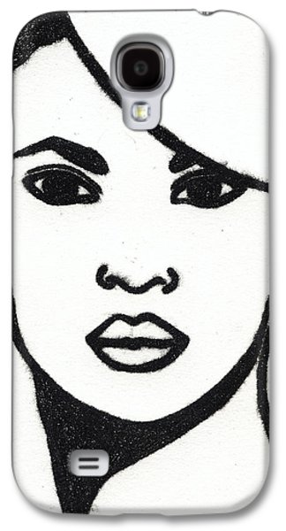 Drypoint Galaxy S4 Cases - Lady with Hat - Drypoint Galaxy S4 Case by Liz Hoenstine
