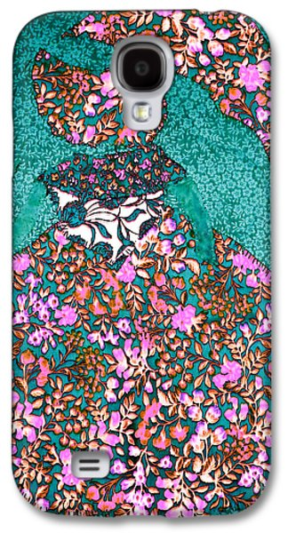 Girl Tapestries - Textiles Galaxy S4 Cases - Lady with Umbrella 3 Galaxy S4 Case by Kim Peto