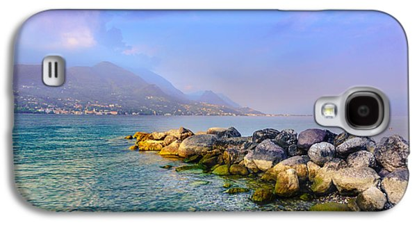 Landmarks Photographs Galaxy S4 Cases - Lago di Garda. Stones Galaxy S4 Case by Dmytro Korol