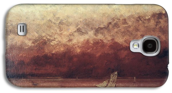 Lake Leman With Setting Sun Galaxy S4 Case by Gustave Courbet