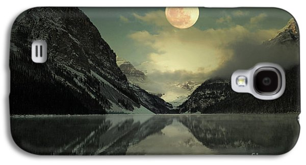Sunset Framed Prints Galaxy S4 Cases - Lake Louise Moon Glow Galaxy S4 Case by Andrea Hazel Ihlefeld