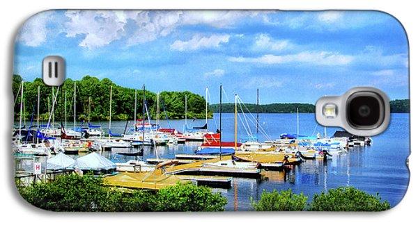Transportation Photographs Galaxy S4 Cases - Lake Nockamixon Marina Galaxy S4 Case by Carolyn Derstine