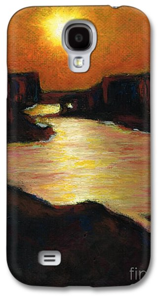 Sunset Abstract Pastels Galaxy S4 Cases - Lake Powell At Sunset Galaxy S4 Case by Frances Marino
