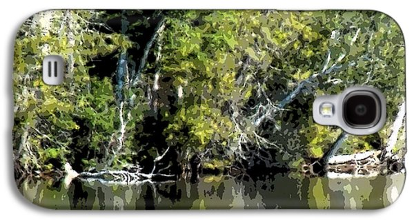 Abstract Digital Art Galaxy S4 Cases - Lake Shore Scene Galaxy S4 Case by William Tasker