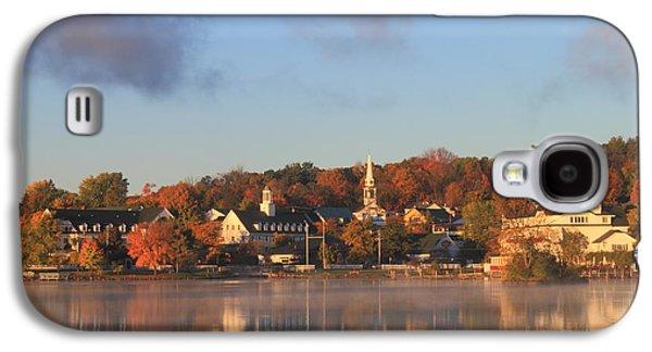 Autumn Foliage Photographs Galaxy S4 Cases - Lake Winnipesaukee Meredith Autumn Morning Galaxy S4 Case by John Burk