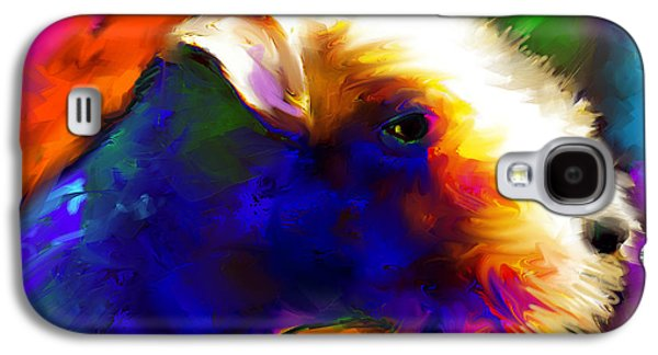 Dogs Jewelry Galaxy S4 Cases - Lakeland terrier dog painting print Galaxy S4 Case by Svetlana Novikova