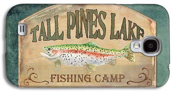 Rainbow Trout Galaxy S4 Cases - Lakeside Lodge - Fishing Camp Galaxy S4 Case by Audrey Jeanne Roberts