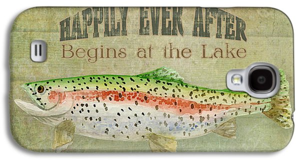 Rainbow Trout Galaxy S4 Cases - Lakeside Lodge - Happily Ever After Galaxy S4 Case by Audrey Jeanne Roberts
