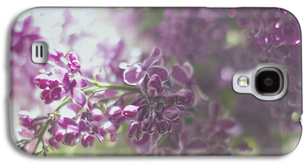 Lilacs Galaxy S4 Cases - Lalac Bokeh Galaxy S4 Case by Rebecca Cozart