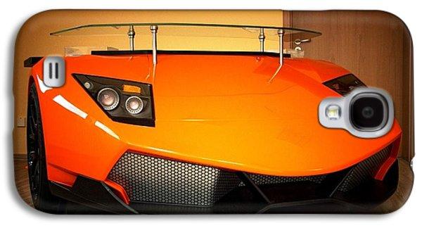 Sports Reliefs Galaxy S4 Cases - Lamborghini desk Galaxy S4 Case by Piotr Marek