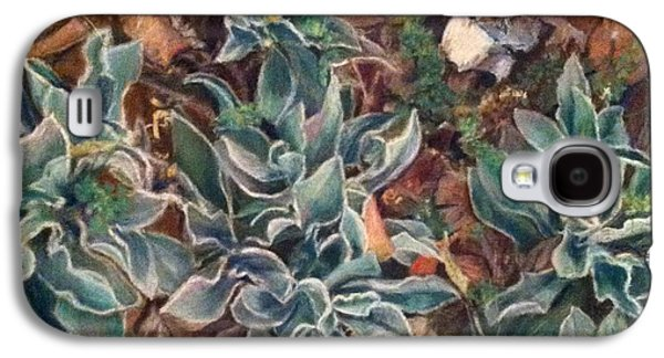Botanical Pastels Galaxy S4 Cases - Lambs Ear in Spring Galaxy S4 Case by Gail Newman