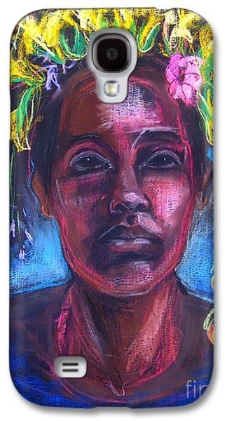Native American Spirit Portrait Galaxy S4 Cases - Land of Plenty Galaxy S4 Case by Gabrielle Wilson-Sealy