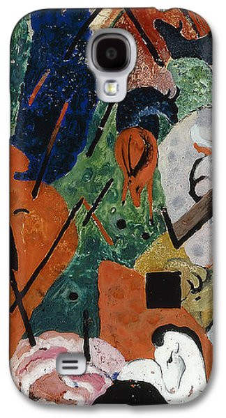 Abstract Landscape Galaxy S4 Cases - Landscape with Animals and Rainbow Galaxy S4 Case by Franz Marc