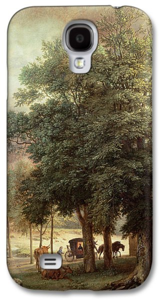 Countryside Paintings Galaxy S4 Cases - Landscape with carriage or House beyond the trees Galaxy S4 Case by Paulus Potter