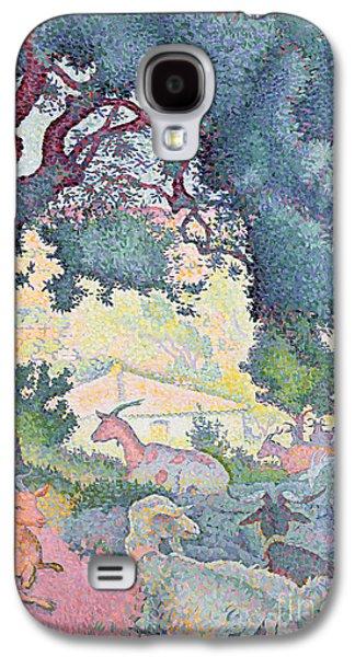 Landscape With Goats Galaxy S4 Case by Henri-Edmond Cross