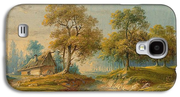 Landscape With Pond Galaxy S4 Case by MotionAge Designs