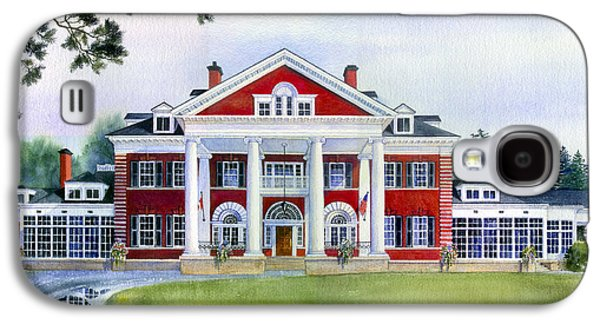 Cambridge Paintings Galaxy S4 Cases - Langdon Hall Galaxy S4 Case by Hanne Lore Koehler