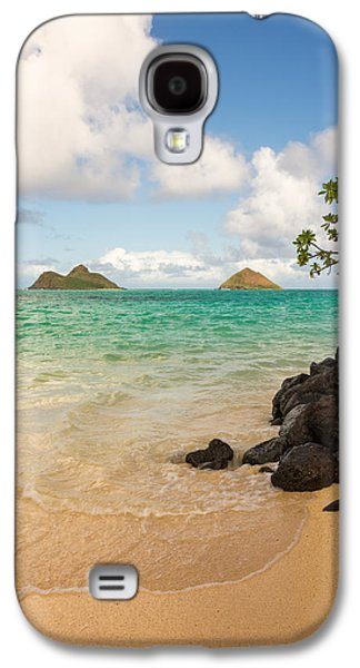 Beach Landscape Galaxy S4 Cases - Lanikai Beach 1 - Oahu Hawaii Galaxy S4 Case by Brian Harig