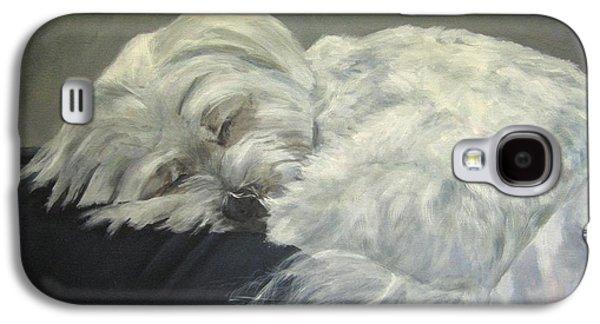 Sleeping Dog Galaxy S4 Cases - Lap Dog Galaxy S4 Case by Elizabeth  Ellis