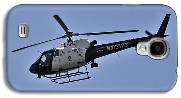 Police Christmas Card Galaxy S4 Cases - LAPD Helicopter In Flight Galaxy S4 Case by Anthony Murphy