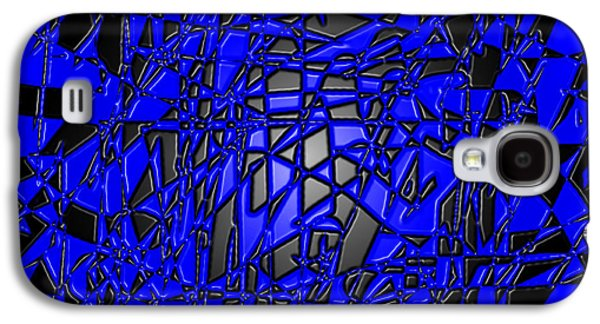 Modern Abstract Tapestries - Textiles Galaxy S4 Cases - Lapis Lazuli II Galaxy S4 Case by Laura Boyd
