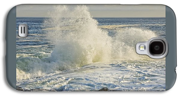 Crest Digital Art Galaxy S4 Cases - Large Waves On Rocky The Coast Of Maine Galaxy S4 Case by Keith Webber Jr
