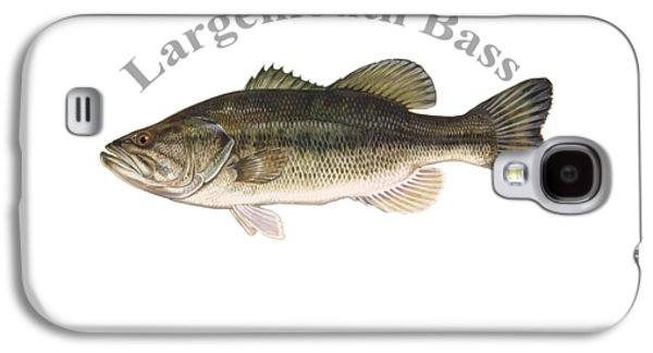 Gamefish Drawings Galaxy S4 Cases - Largemouth Bass Fish by Dehner Galaxy S4 Case by T Shirts R Us -