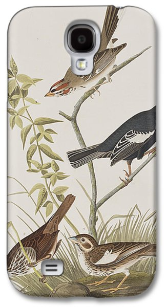 Lark Finch Prairie Finch Brown Song Sparrow Galaxy S4 Case by John James Audubon