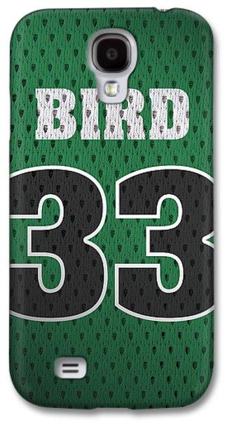 Larry Bird Boston Celtics Retro Vintage Jersey Closeup Graphic Design Galaxy S4 Case by Design Turnpike
