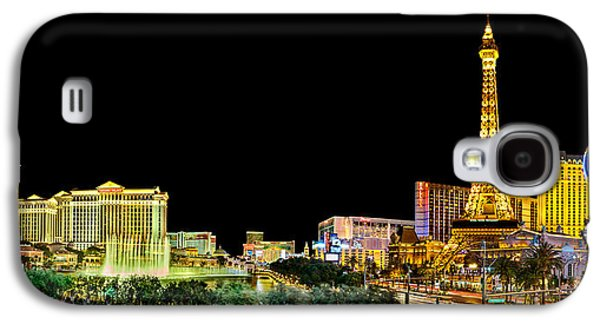 Las Vegas Galaxy S4 Cases - Las Vegas At Night Galaxy S4 Case by Az Jackson