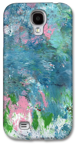 Abstract Movement Galaxy S4 Cases - Last Dance- Abstract Art by Linda Woods Galaxy S4 Case by Linda Woods